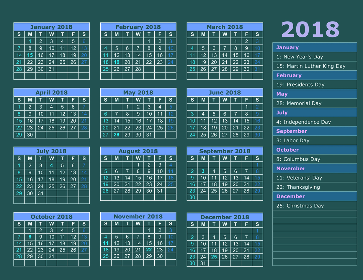 holidays Archives - 2018 Calendar printable for Free ...