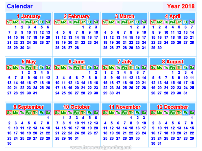 2018 calendar indian holiday