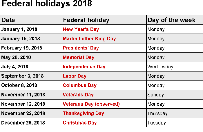 2018 calendar printable for free download india usa uk usps post office holidays 2018