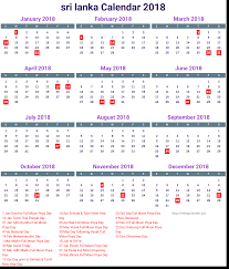 Calendar 2018 srilanka holidays list - 2018 Calendar printable for ...