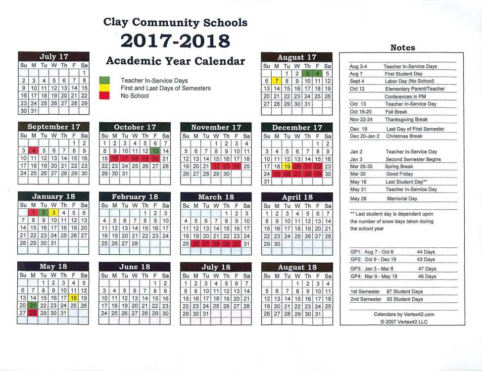 School Calendar 2018 Brunei : Brazil calendar of clay community schools