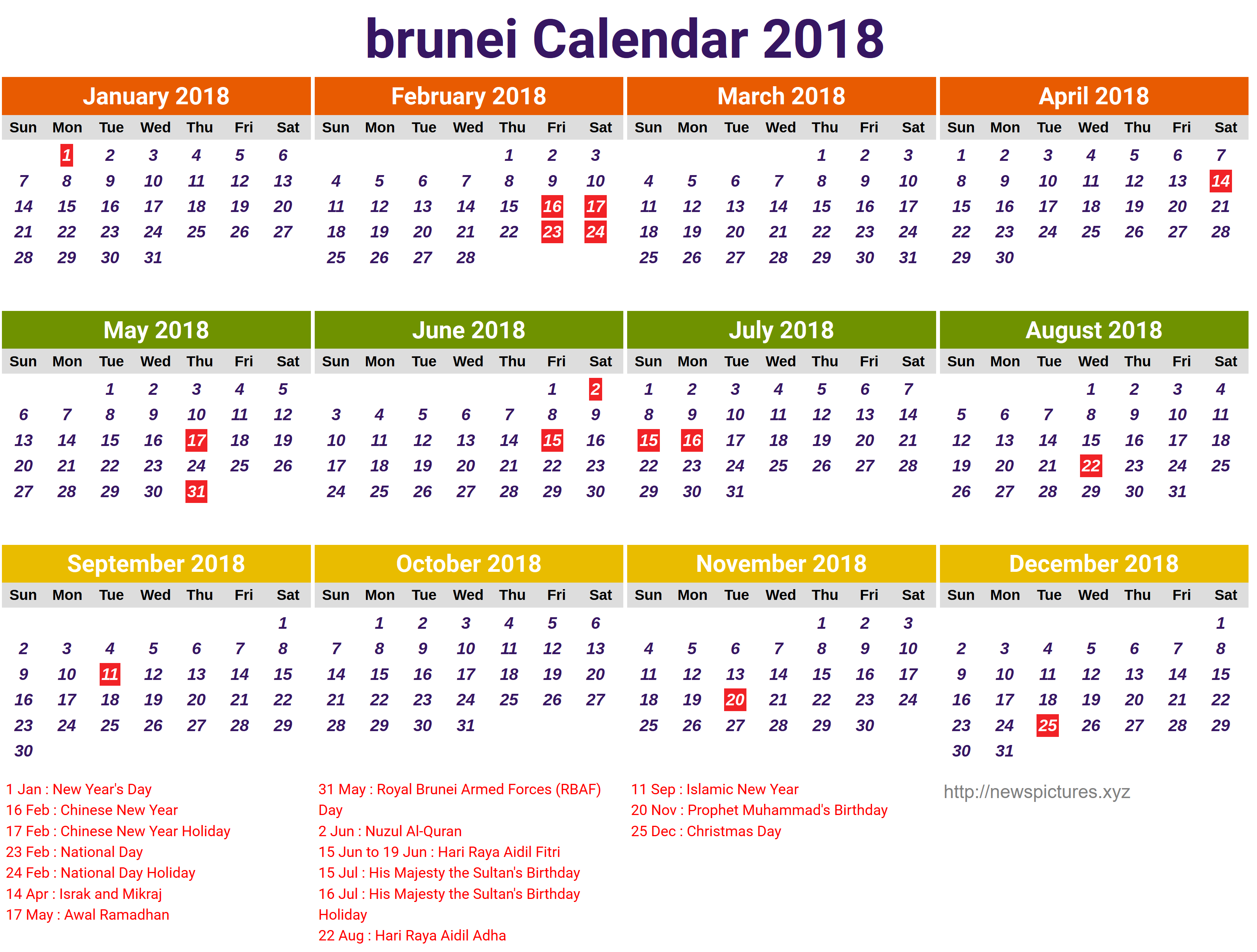 School Calendar 2018 Brunei : Privacy policy free printable calendars autos post