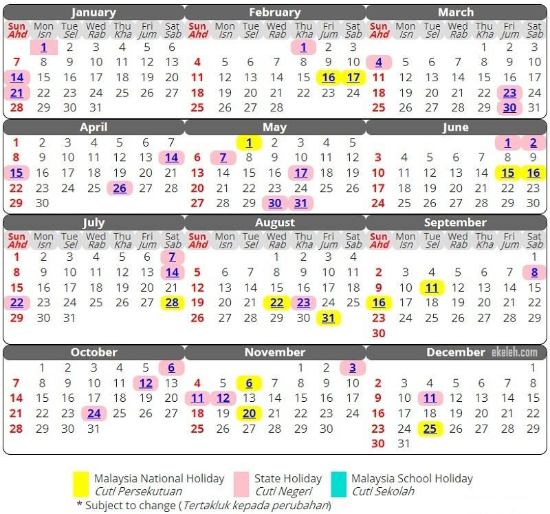 Kalendar 2018 - 2018 Calendar printable for Free Download ...
