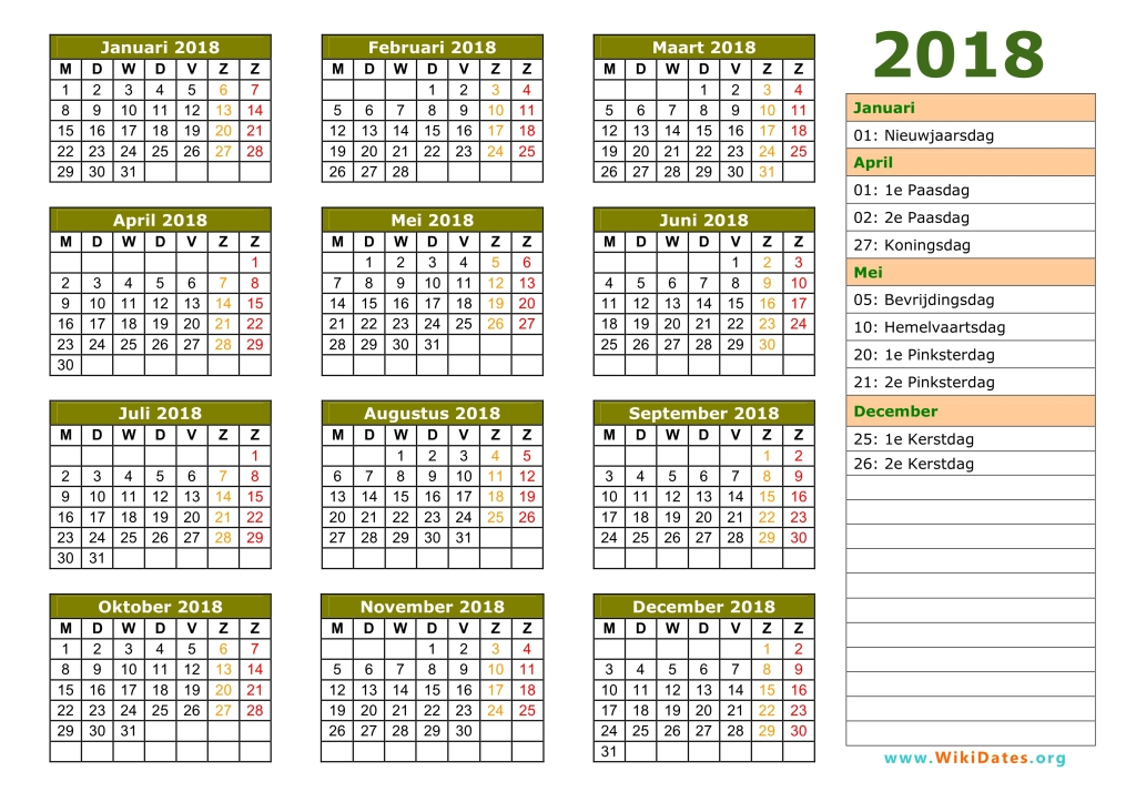 Calendar 2018 March To August