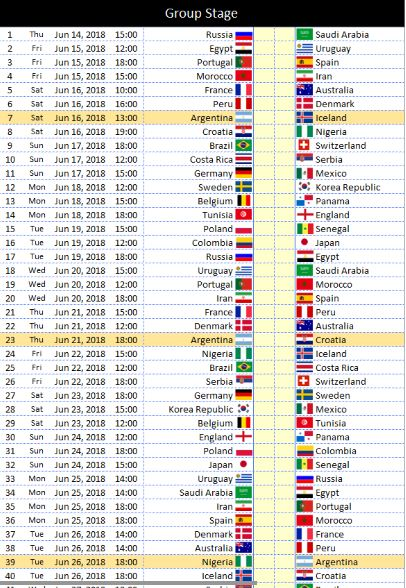 photograph regarding World Cup Printable Schedule called Fifa Global cup 2018 plan 2018 Calendar printable for