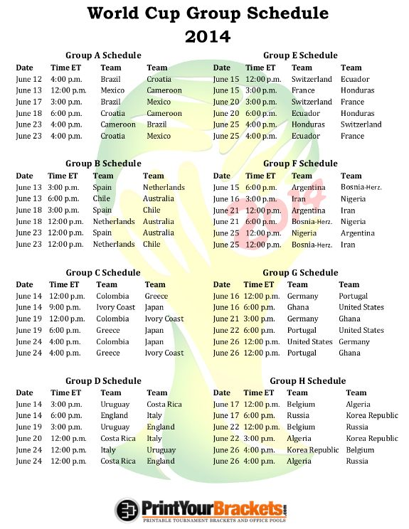 This is a photo of Printable World Cup Schedule inside daily