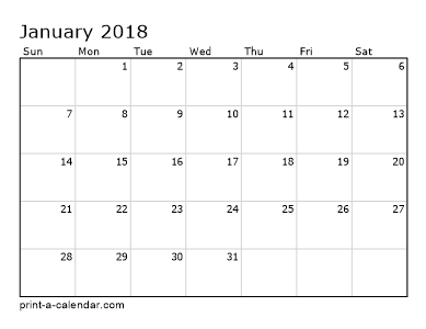 2018 Calendar printable for Free Download India USA UK ...